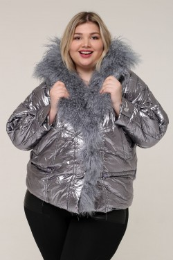 Женская зимняя куртка 5006 Серый