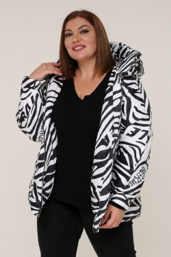 Женская зимняя куртка 20317 Зебра белая