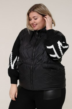 Женская весенне-осенняя куртка 91608 Черный