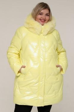 Женская зимняя куртка 20511 Желтый