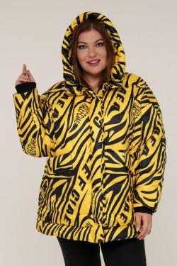 Женская зимняя куртка 20366 Зебра желтая