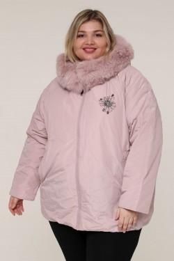 Женская зимняя куртка А-165 Розовый