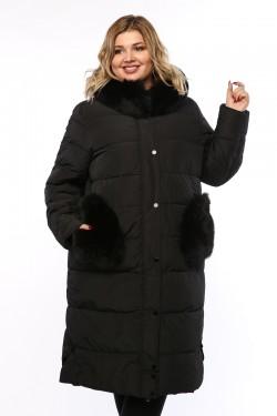 Женское пальто, А 101, Черный