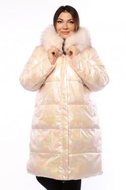 Женское пальто, 19587, Розовый Жемчуг