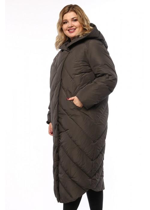 Женское пальто, А 169, Серый