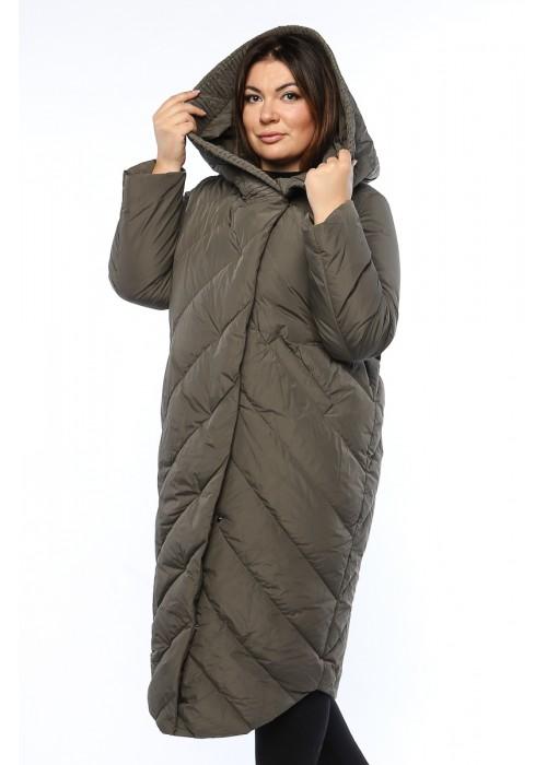 Женское пальто, А 169, Хаки