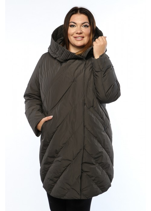 Женское пальто, А 169-1, Серый
