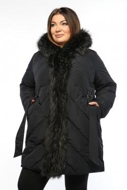 Женское пальто, 19326-1, Синий
