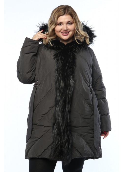 Женское пальто, 19326-1, Серый