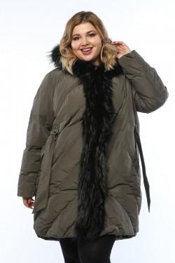 Женское пальто, 19326-1, Хаки