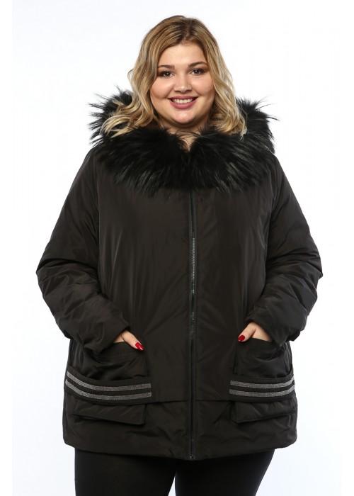 Женское пальто, 19367, Черный
