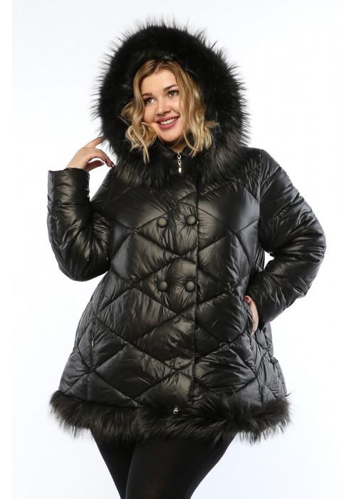Женское пальто, А 145, Черный