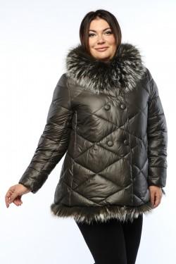 Женское пальто, А 145, Серый
