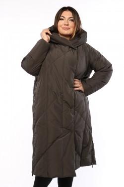 Женское пальто, 19330, Серый