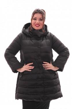 Женская куртка черная, арт. R-15-662, холлофайбер