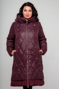 Женское зимнее пальто 19215, Бордо