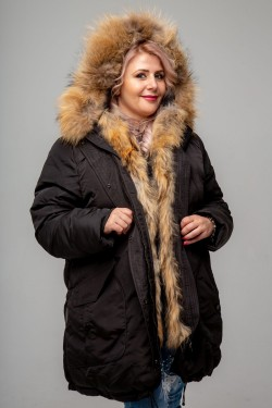 Женская зимняя куртка-парка, А-833-71, Черный