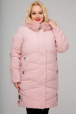 Женское зимнее пальто, 026-81, Пудра
