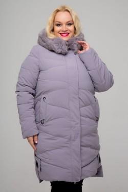 Женское зимнее пальто, 026-81, Сиреневый