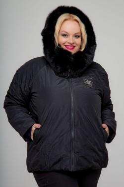 Женская зимняя куртка, А-561, Черный+Декор