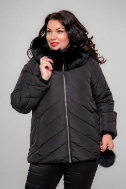 Женская зимняя куртка, А-551, Черный