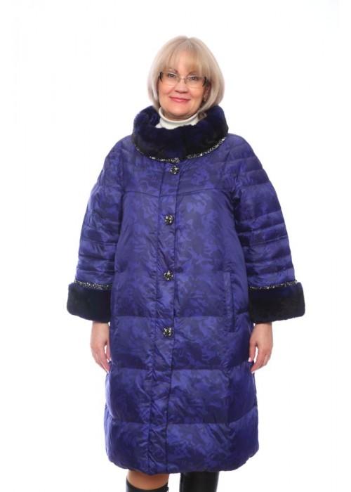 Женская куртка, арт. 15673-1 с мехом, гусиный пух