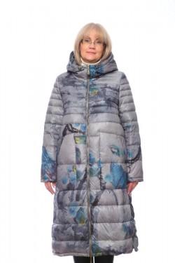 """Женская куртка, арт. 16956 """"Серый павлин"""", гусиный пух"""