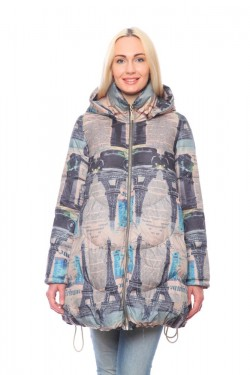 Женская куртка, арт. 1225-1, холлофайбер