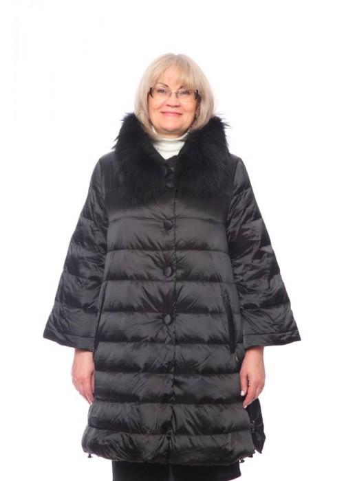 Женская куртка, арт. 15662-1 с мехом, гусиный пух