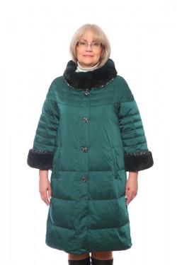 Женская куртка, арт. 15673-2 с мехом, гусиный пух