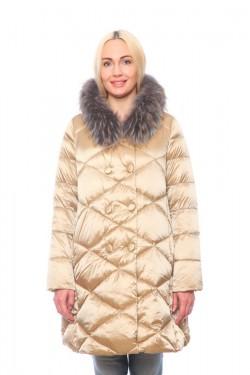 Женская куртка, арт. 15703А с мехом, гусиный пух