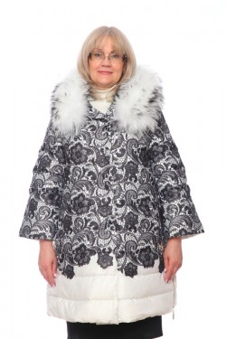 Женская куртка, арт. 15791-1-1 с мехом, гусиный пух