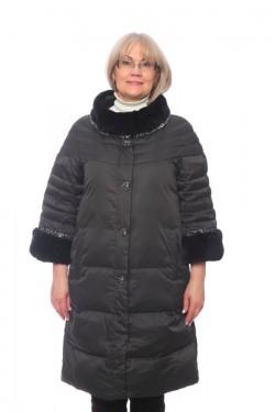 Женская куртка, арт. 15673-3 с мехом, гусиный пух