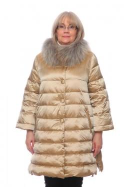 Женская куртка, арт. 15662-3 с мехом, гусиный пух