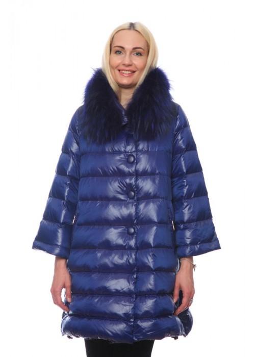 Женская куртка, арт. 15662-4 с мехом, гусиный пух