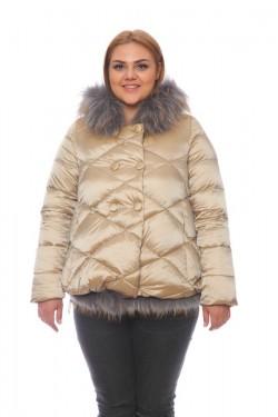 Женская куртка, арт. 15703-2 с мехом, гусиный пух
