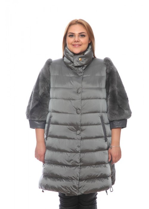 Женская куртка, арт. 15002-1 с мехом, гусиный пух