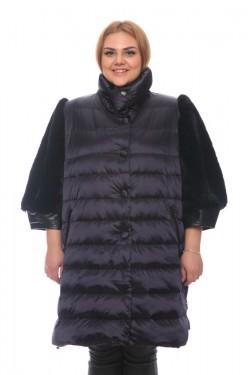 Женская куртка, арт. 15002-2 с мехом, гусиный пух