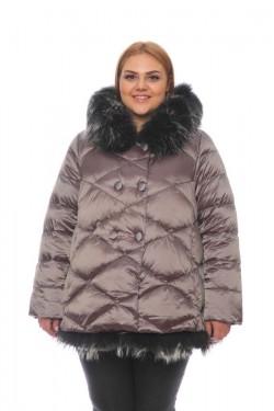 Женская куртка, арт. 15703-3 с мехом, гусиный пух