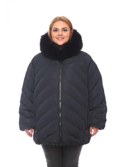 Женская куртка, арт. 3021-5 с мехом, гусиный пух