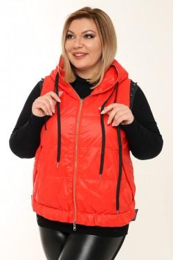 Женская безрукавка двухсторонняя весенне-осенняя 20809 Красный