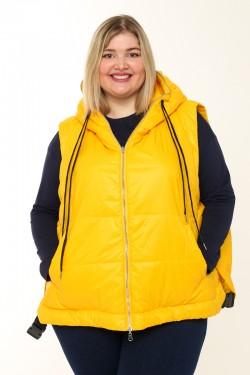 Женская безрукавка двухсторонняя весенне-осенняя 20809 Желтый