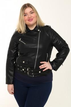 Женская куртка-косуха весенне-осенняя 989 Черный