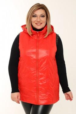 Женская безрукавка весенне-осенняя 20863 Красный