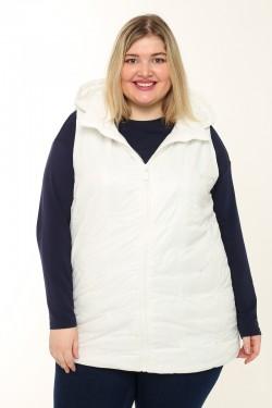 Женская безрукавка весенне-осенняя 20863 Белый