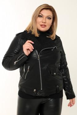 Женская куртка-косуха весенне-осенняя 8916 Черный