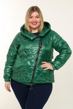 Женская куртка весенне-осенняя 71073 Зеленый