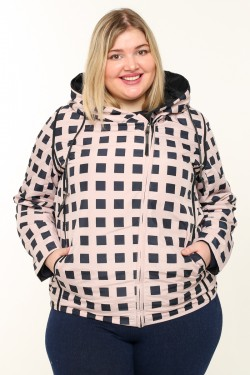 Женская куртка весенне-осенняя 211-25 Пудра