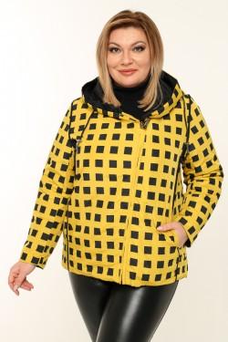 Женская куртка весенне-осенняя 211-25 Желтый