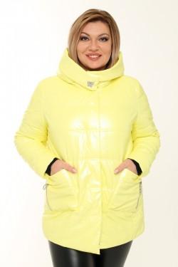 Женская куртка весенне-осенняя 21061 Желтый